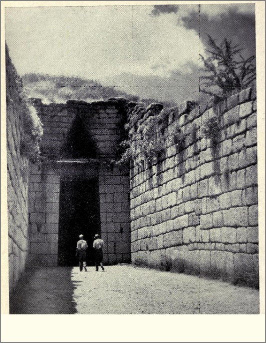 passage and entrance to the so-called treasury of atreus