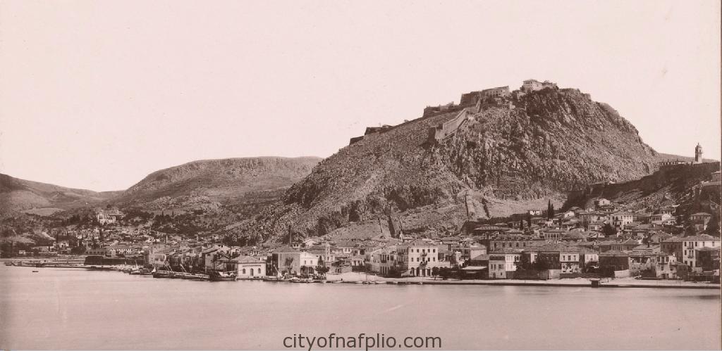 Gezicht op Nauplia, G 47. Gezicht op Nauplia van de zee, Griekenland _1895_1915_detail1