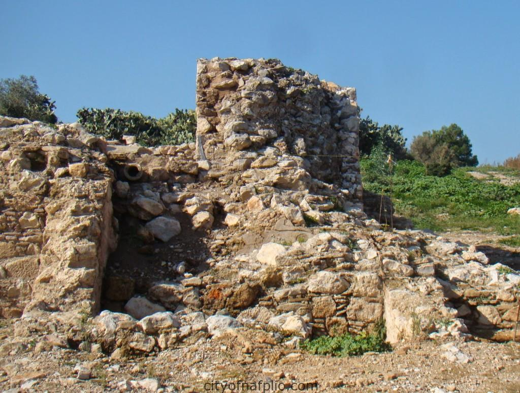 Remains of square Frankish tower.