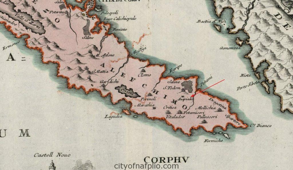 carte-de-corfou-en-1720