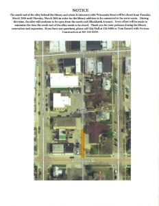 Partial Alley Closure for Library Construction