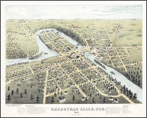 old city layout of sheboygan falls