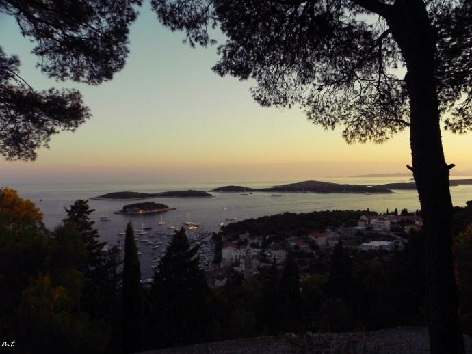 Pakleni islands at sundown