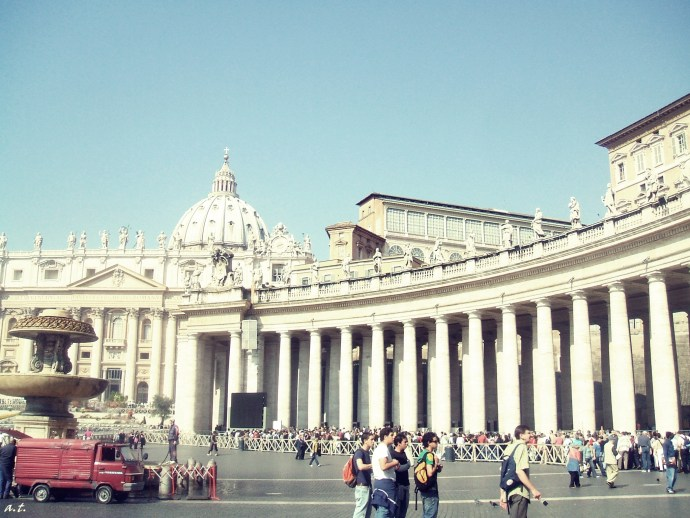 halfway through St. Peter's Square