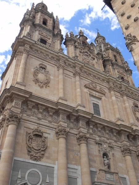 half the facade of the church of La Clerecía, Salamanca