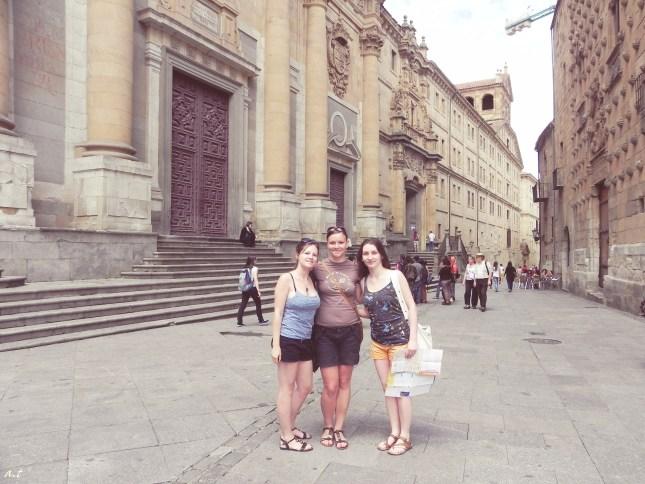between La Clerecía & Casa de las Conchas, Salamanca