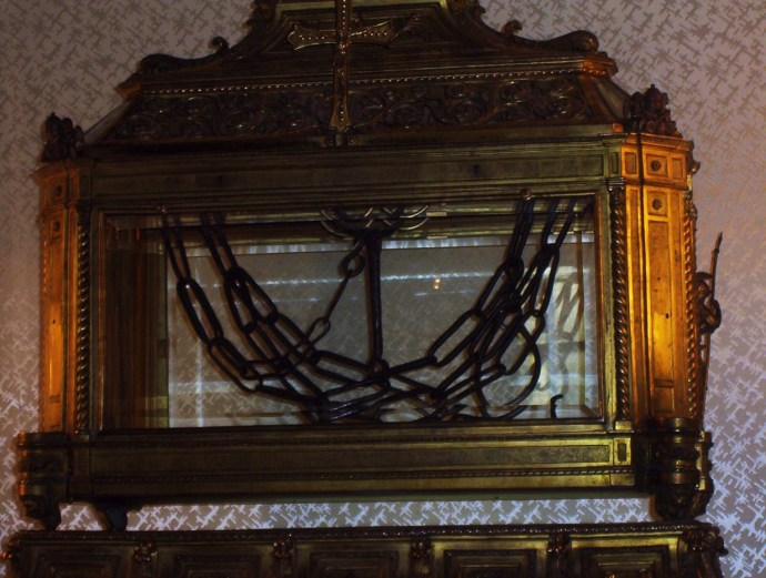 reliquary with St. Peter's chains