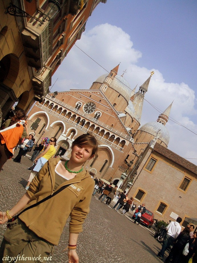 in front of St. Anthony Basilica, Padua