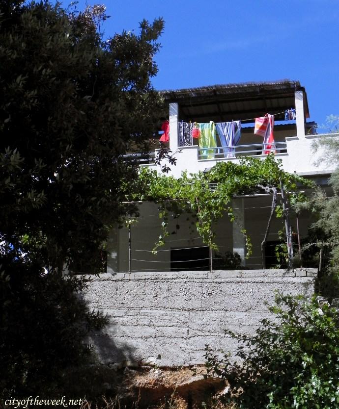 the villa in Hvar, photo taken from the shore
