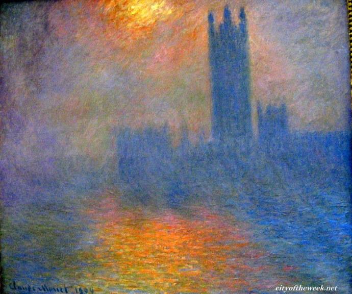 Claude Monet's The sun shining through the fog