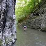 through the water in Ramet gorge