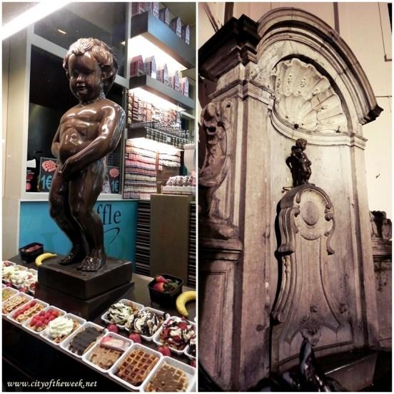 Chocolate vs. the Real Manneken Pis