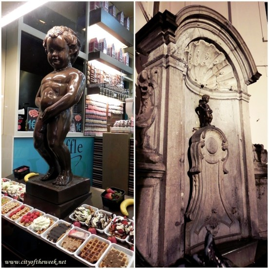 Chocolate vs. the Real Manneken Pis