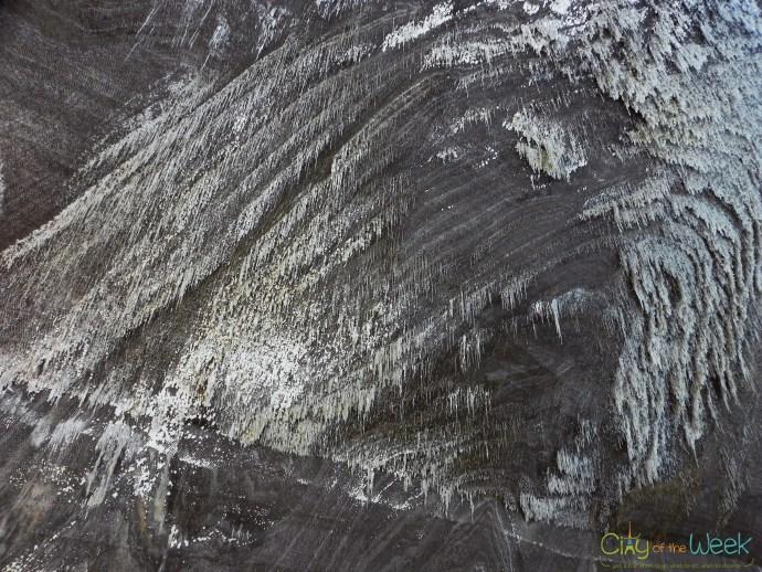 Salt Stalactites at Turda Salt Mine