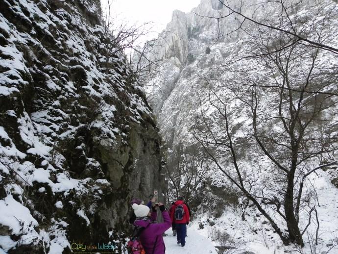 first steps in Turda Gorge