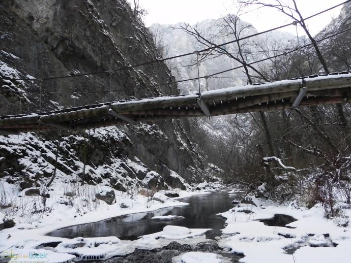 bridge in Turda Gorge