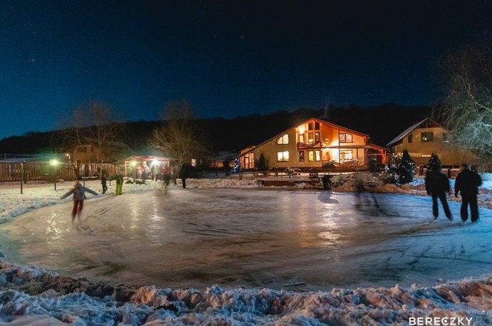 ice skating at Agape Resort Corunca