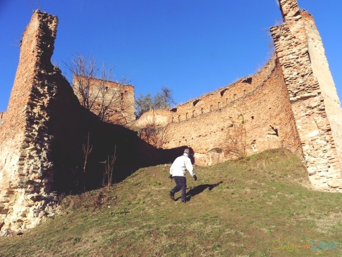 tower remains of Slimnic Fortress | Fortified Churches