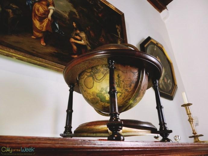 beautiful globe in the Master bedroom