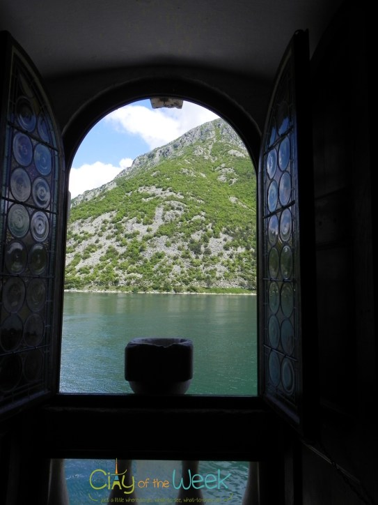 Islands of Perast: view from the Church of Our Lady of the Rocks