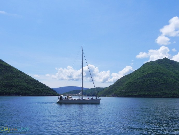sailboat in Perast, Montenegro