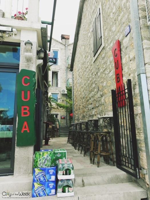 local bar in Petrovac na Moru