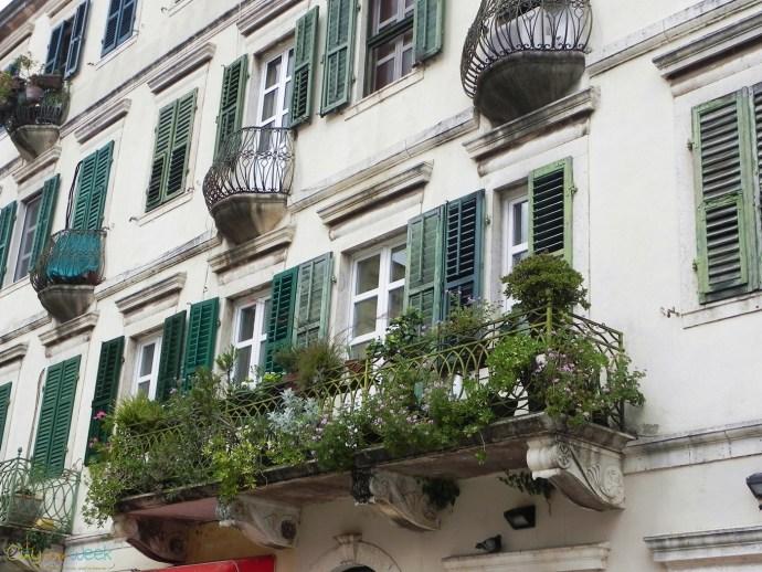 Decorated Venetian Blinds in Kotor Main Square