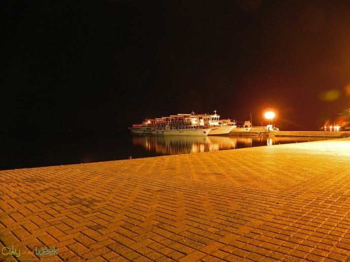 Ohrid Lake in darkness