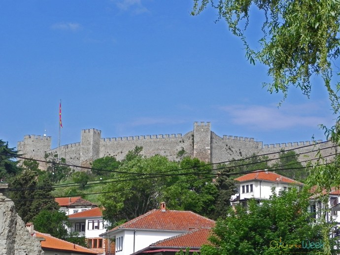 Samuel's Fortress overlooking Ohrid Town