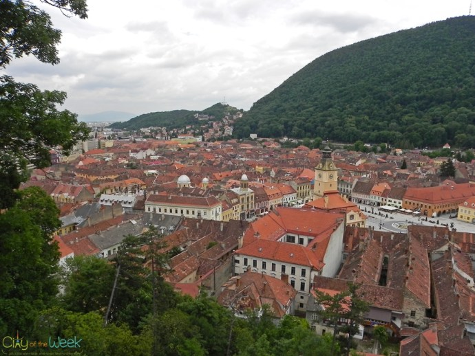 vew from the White Tower, Brasov
