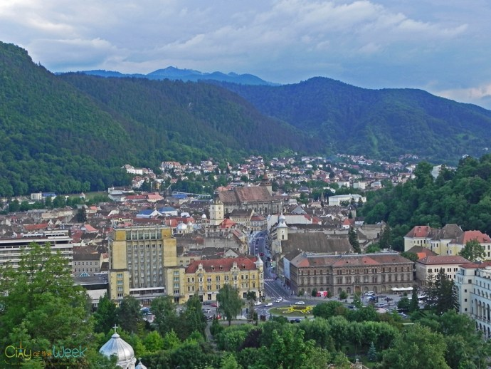 view from the Fortress of Brasov