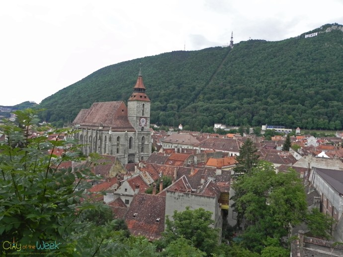View of Brasov from the Black Tower