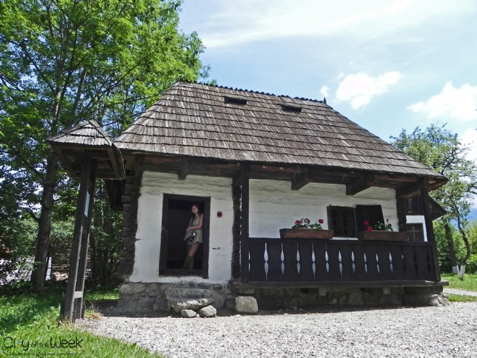 Houses of the VIllage Museum in Bran