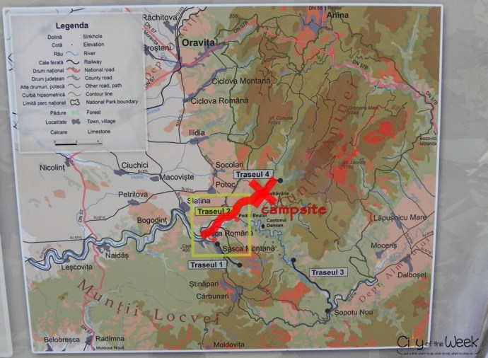Nera Valley Map to the Campsite
