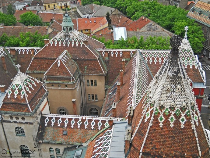 Subotica City Hall from Above
