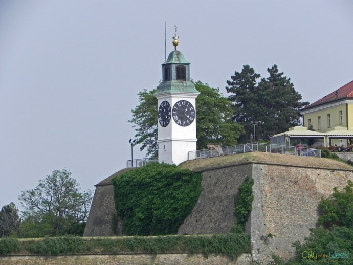 Clock Tower in Petrovaradin Fortress, Novi Sad, Serbia