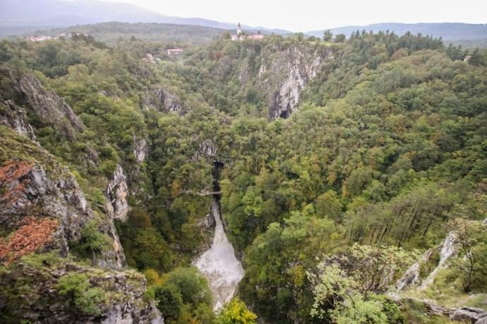 Slovenian Karst - Skocjan Cave from above