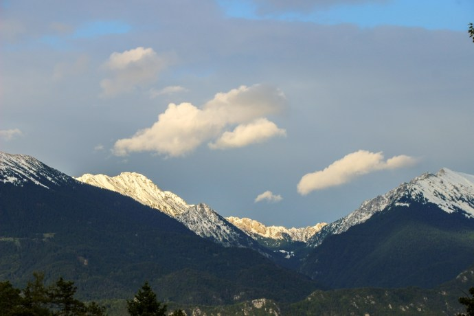 Julian Alps from Bled Castle, Slovenia