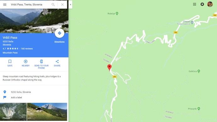 Vrsic Pass, Kranjska Gora, Slovenia