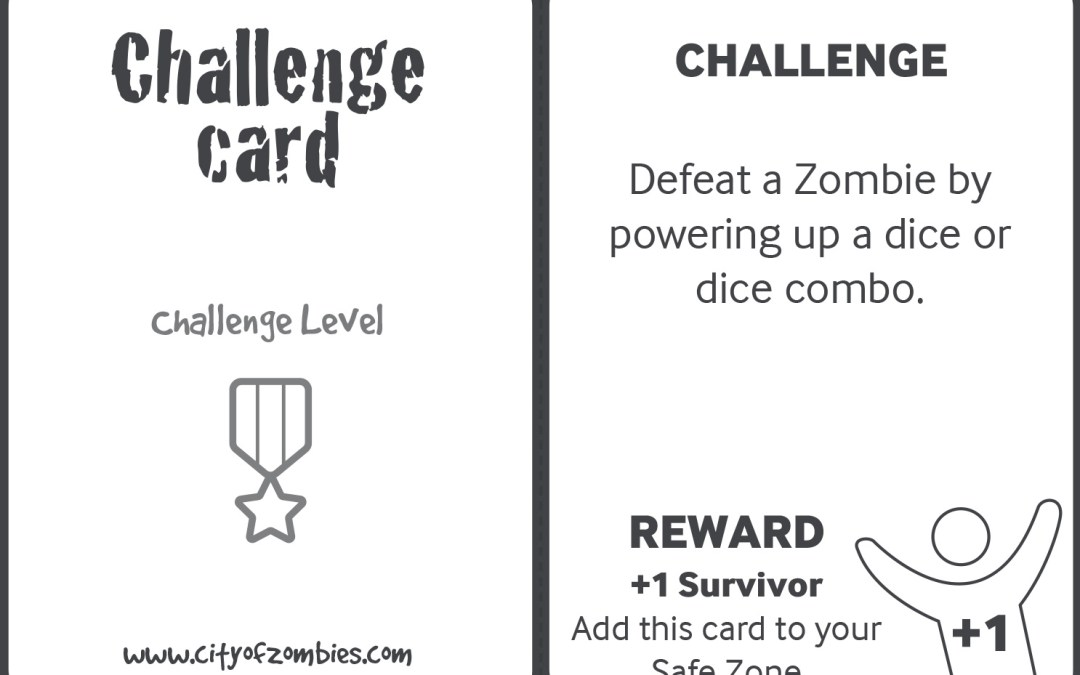 Challenge Cards – free Print and Play City of Zombies game add on