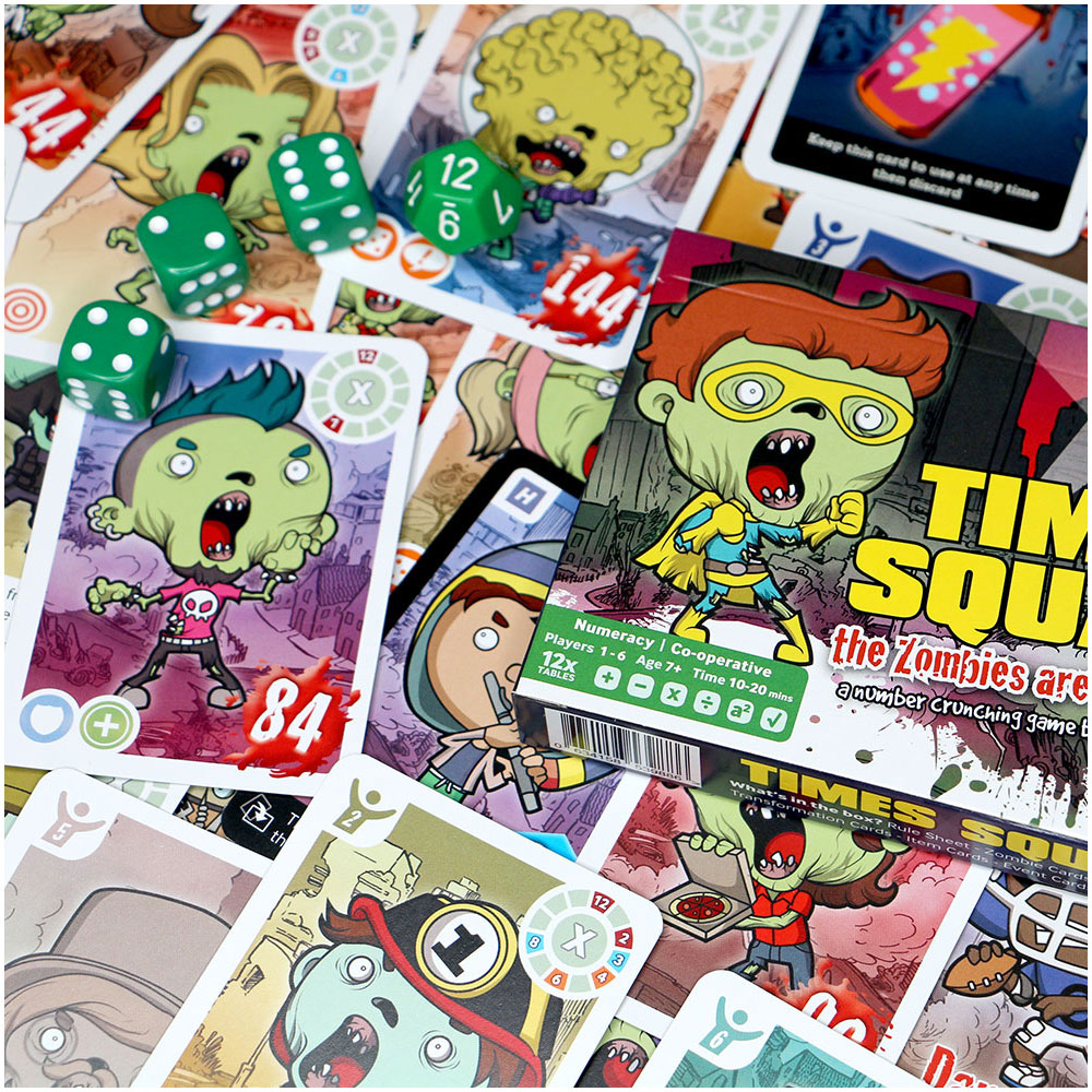 City of Zombies Times Square - a brain crunching times table game ...
