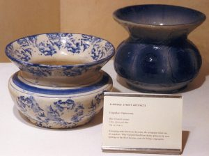 Spittoons used by congregants of the Eldridge Street Synagogue, ca. 1900. From the Museum at Eldridge Street.