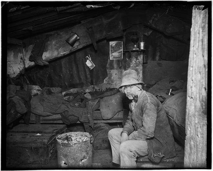 """Jacob A. Riis, """"Italian Home Under a Dump,"""" ca. 1890. Museum of the City of New York (90.13.1.208)"""