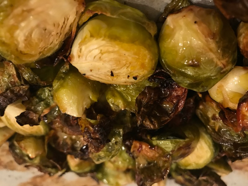 Easy Healthy Dinner Side Honey Roasted Brussel Sprouts
