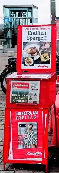 "Front Page News - Endlich Spargel! ""Finally Asparagus"" - Spargelzeit"