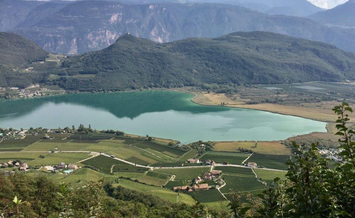 View of Lake Caldaro, South Tyrol