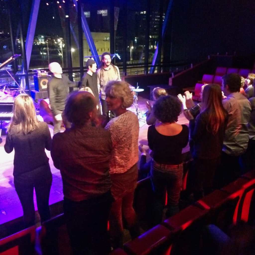 Bimhuis performance hall with audience clapping