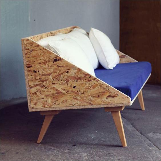 déco canapé DIY en panneau OSB