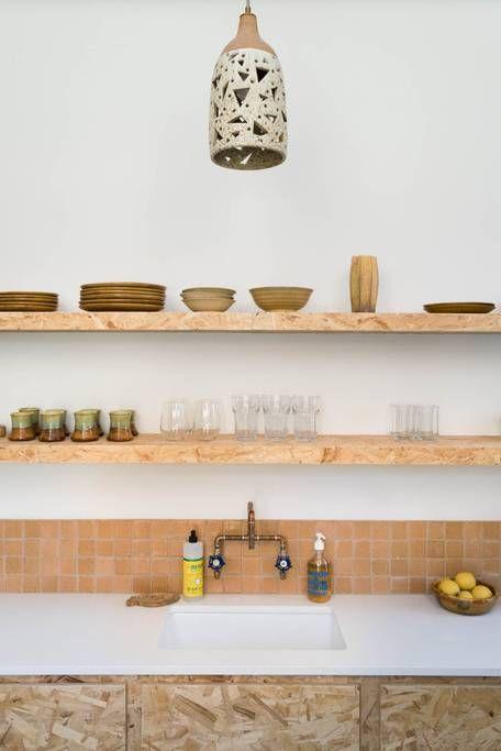 déco cuisine étagères osb