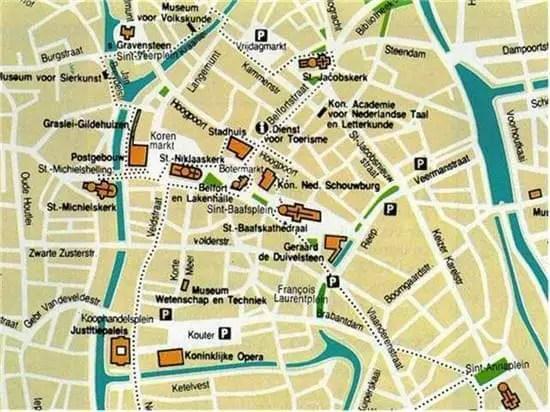 Carte De Gand Plan Touristique Gand